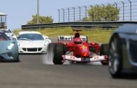 Ferrari-F1-2004-Michael-Schumacher-vs-Supercars-at-Zandvoort